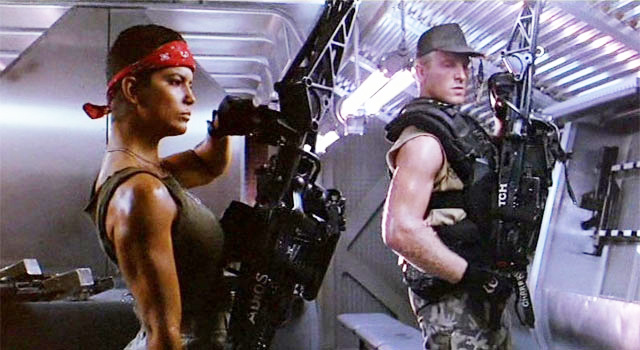 Vasquez and Drake in Aliens