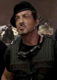 Sylvester Stallone in a black beret from The Expendables