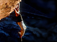 Tom Cruise rock climbing in Mission: Impossible II
