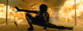 Matrix Reloaded Trinity flame stunt