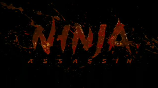 Ninja Assassin blood splatter title