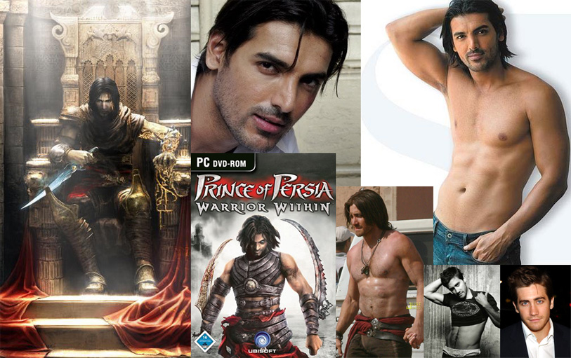 Prince of Persia casting composite promoting John Abraham over Jake Gyllenhaal