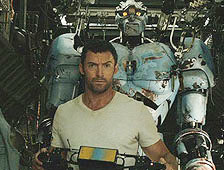 Hugh Jackman with Ambush in Real Steel