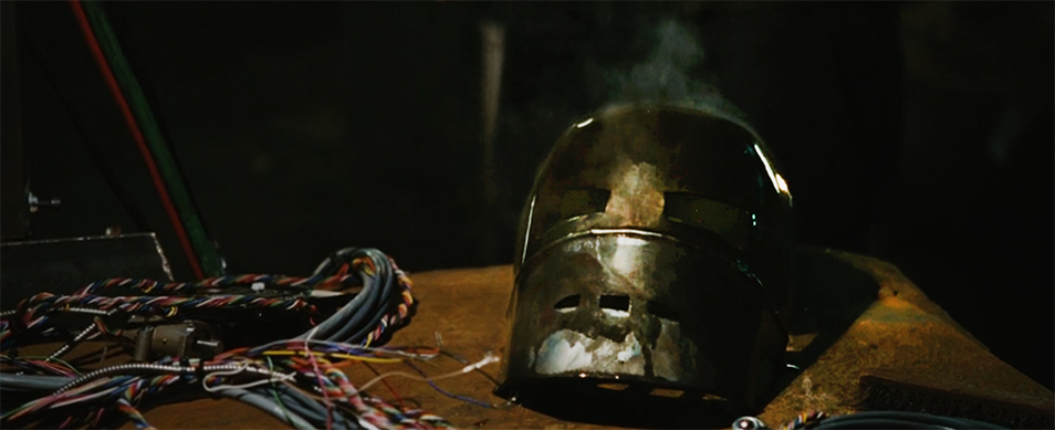 the first Iron Man mask