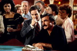 casino scene Burt Reynolds and Peter MacNicol in HEAT