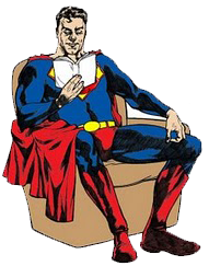 Superman reading