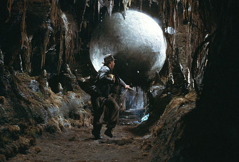 Indiana Jones Raiders of the Lost Ark Indy is chased by the big stone ball