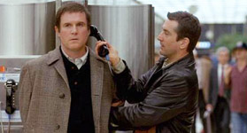 Midnight Run Charles Grodin and Robert De Niro scene in airport where DeNiro lets him make a phone call