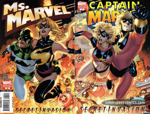 Ms Marvel and Captain Marvel female superheroes