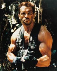 Predator starring Arnold as Dutch and Arnold's biceps