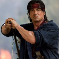 Sylvester Stallone as John Rambo in Rambo