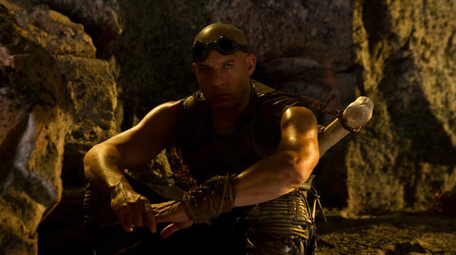 Vin Diesel on a break from filming Chronicles of Riddick 2