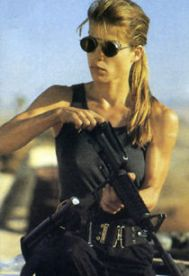 Bad Ass Action Movie character Sarah Connor