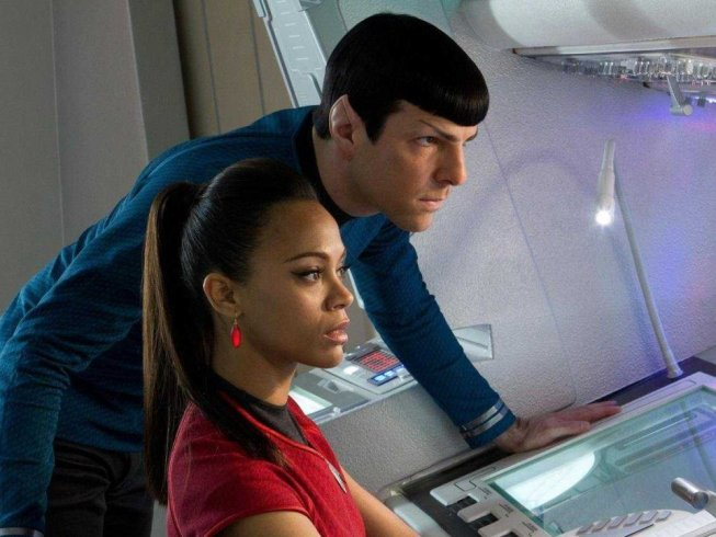 Spock and Uhura from Star Trek Into Darkness