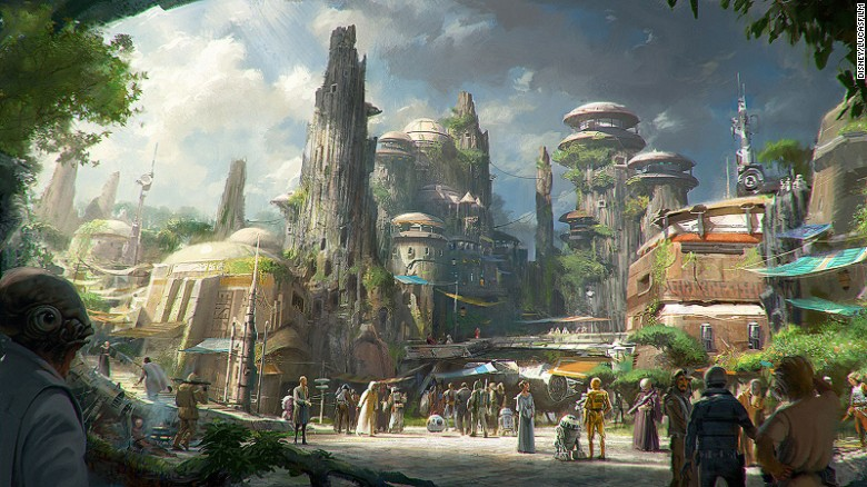 Star Wars theme park Disneyworld