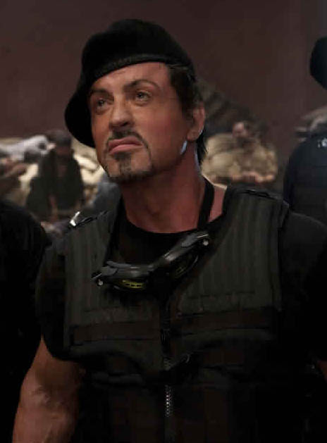Stallone in the Expendables with beret