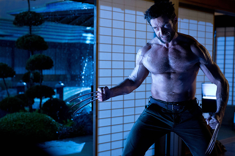 the wolverine shirtless