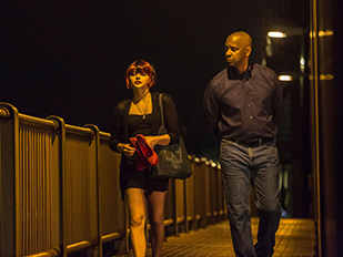 Denzel Washington and Chloe Grace Moretz in The Equalizer