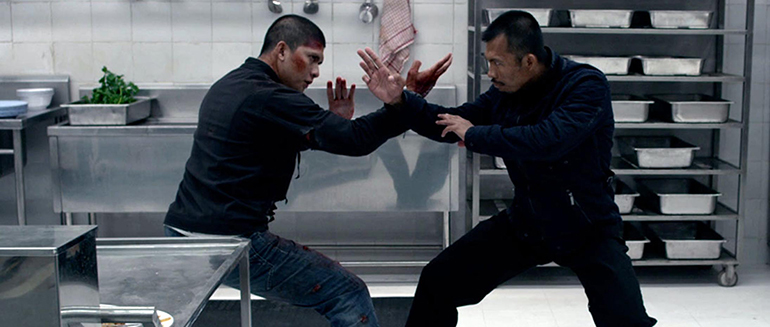 The final fight scene first half in The Raid: Redemption