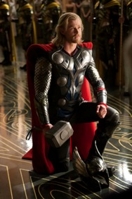 Chris Hemsworth as Thor comic book action movie