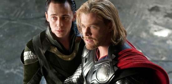 Chris Hemworth as Thor with Loki