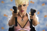 bad ass action movie chick Kate Nauta in Transporter 2