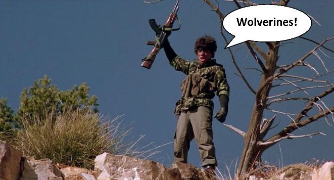 Wolverines battle cry moment in Red Dawn 1984