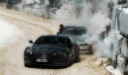 Quantum of Solace chase scene through marble quarry